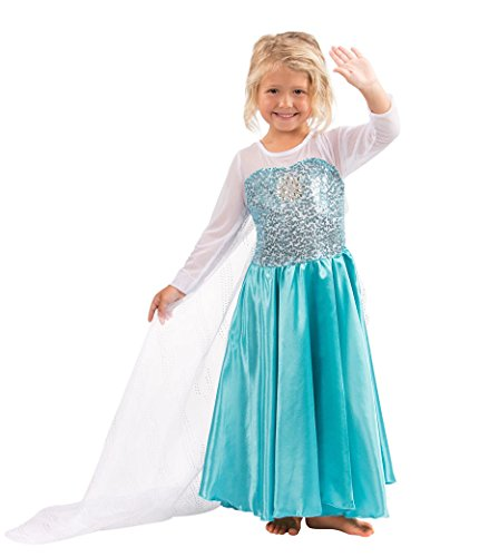 Butterfly Craze Girls Snow Queen Costume Snow Princess Dress - 3 Years
