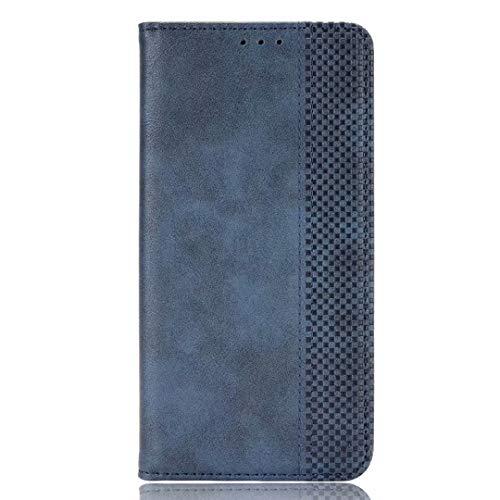 YIKLAHüllefürvivo V21 5G,PremiumLederPU/TPUFlipFolioTascheHandyhülle,mit[Kartenfach][Magnetverschluss]StandfunktionBrieftascheHandyCover - Blau