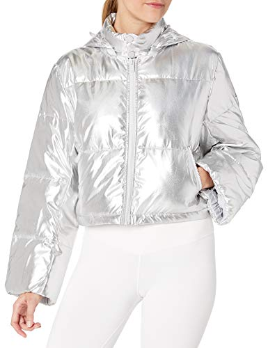 Alo Yoga Women's Introspecitve Quilted Jacket, Silver, Large