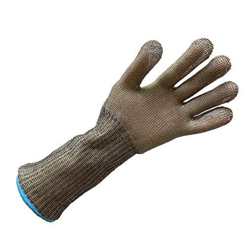 Schnittfeste Handschuhe 316L-Stahldraht-geschnittene Handschuhe, Küchensicherheitshandschuhe Mit Ausgedehnten Armen, Sowohl Für Die Linke Als Auch Für Die Richtige Hände