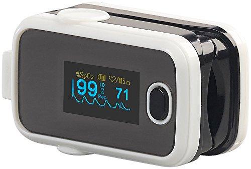 newgen medicals Oximeter: Medizinischer Finger-Pulsoximeter mit OLED-Display und USB-Anschluss (Pulsoximeter mit Aufzeichnung)