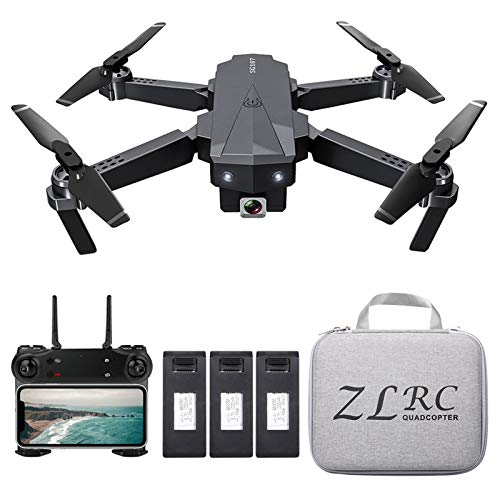 Festnight Foldable Mini Drone with Camera 4k Hd Indoor Optical Flow Positioning Rc Quadcopter App Control with Headless Mode 360° Rotation Trajectory Flight for Adults Kids Beginners