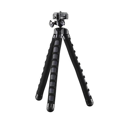 Mantona kaleido Flex leichtes Flex Stativ (mit hochwertigem 360° Kugelkopf, geeignet für Digital und Videokameras, Smartphones und Action Cams) deep grey