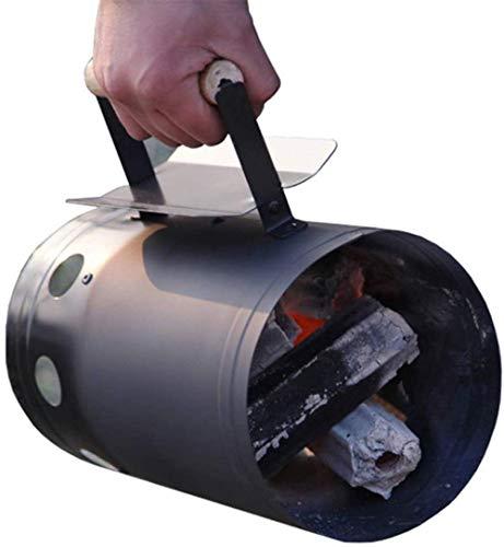 Komin na węgiel drzewny rozrusznik węgiel naczynie do gotowania ze stali nierdzewnej węgiel drzewny kominek rozrusznik brykiet na kemping piknik na zewnątrz akcesoria do gotowania