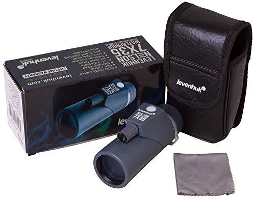 Monocular Marino Levenhuk Nelson 7x35 con Brújula y Telémetro Integrados, Óptica de Vidrio BaK-4 y Sumergible Según Normativa IPX7