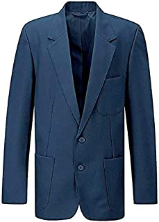 Boys Long Sleeve Collared Formal Blazer Girls School Wear Pocketed Plain Coat 27-54 Inches Chest