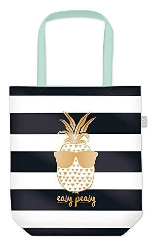 Grafik Werkstatt Einkaufstasche Damen mit lustigem Spruch | Shopping-Bag faltbar | leichte Tasche | Ananas