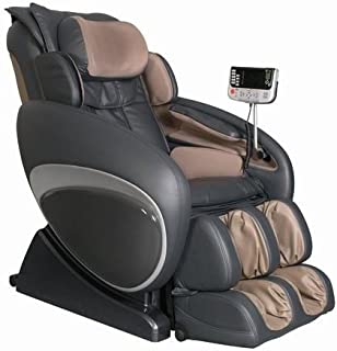 OS-4000 Zero Gravity Heated Reclining Massage Chair Upholstery: Brown/Black