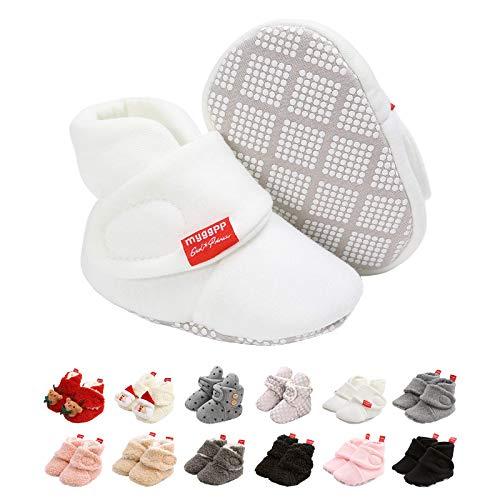 Botines de Bebé,Invierno Suave Algodón Unisexo Antideslizante Bebé Zapatos Navidad Primero Cumpleaños Regalo (12-18 Meses, H)