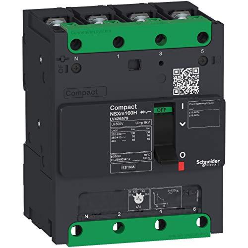 Interruptor NSXm 25kA TM80D 4P/4P tornil marca SCHNEIDER