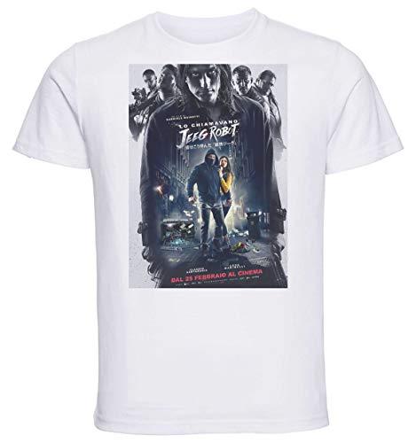 Instabuy T-Shirt Unisex - White Shirt - Playbill Film - Lo Chiamavano Jeeg Robot Size Large