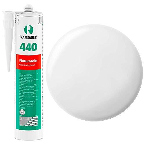Ramsauer 440 Naturstein 1K Silikon Dichtstoff 310ml Kartusche (Weiß Matt)