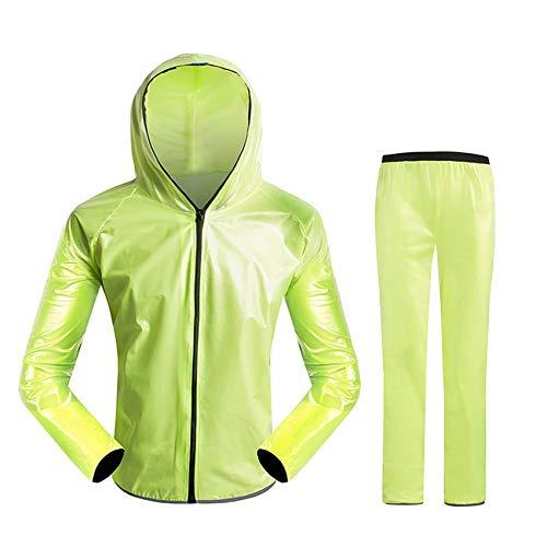 FCXBQ Cycling Raincoat Jacket Mountain Bike Climbing Split Raincoat Rain Pants Suit Men and Women Adult Outdoor Sports Cycling Clothes