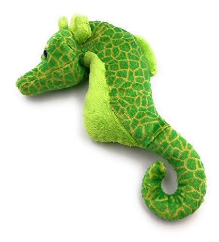 Onwomania Plüschtier Kuscheltier Stoff Tier Seepferdchen grün Hippocampus 23 cm