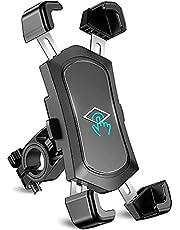 """Cocoda Soporte Movil Bicicleta Desmontable, 360° Rotación Soporte Movil Moto, Acero Inoxidable Anti Vibración Soporte Movil Bici Compatible con iPhone 12 SE, Samsung S20 Ultra y Otro 4.5-7.2"""" Móvil"""
