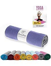 NirvanaShape ® Yoga handdoek antislip | hot yoga towel met antislip noppen | hygiënisch yoga doek onderlaag voor yoga mat [ 185 x 63 cm ]