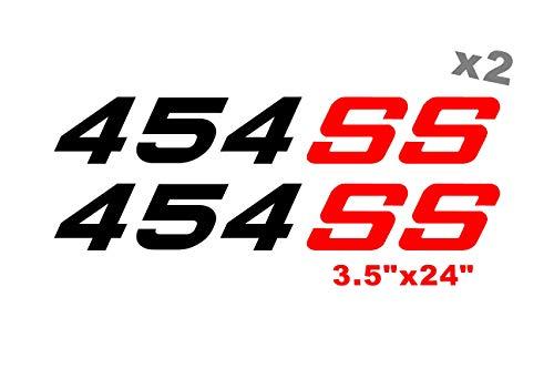 454 SS Decals Side Bed Chevy Trucks Stickers Silverado 1500 Single Cab - 4 Door