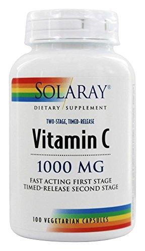 Solaray社 ソラレー ビタミンC 1000mg 2段階タイムリリース型 100粒