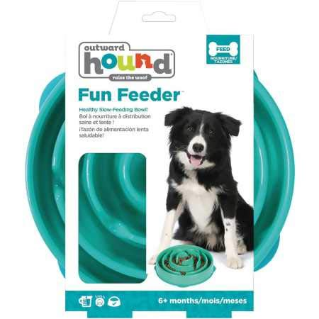 Outward Hound Drop Teal Fun Feeder