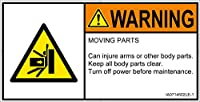 警告ラベル.com PL警告ラベル IA0714502 押しつぶし:英語 Lサイズ 6枚入 IA0714502LE-1