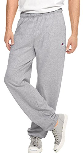 Champion Authentic Men's Open Bottom Jersey Pants, Oxford Grey, XX-Large