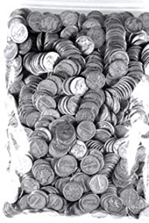 500 Silver Mercury Dimes - $50 Face Value - Assorted Dates - Unsearched Circulated to AU