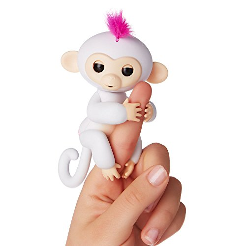 Wow Wee - Fingerlings  - bébé singe Ouistiti interactif, 12cm, blanc