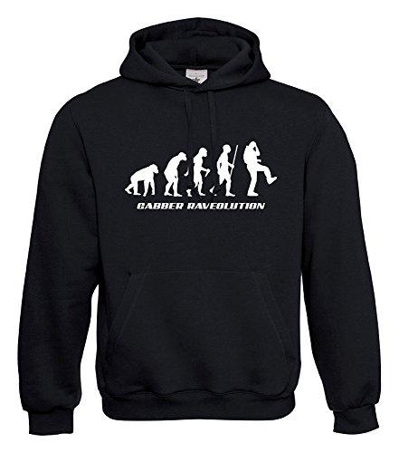 KNOW-MORE-STYLEZ Hooded Sweatshirt Hardcore Gabber RAVEOLUTION Kapuzenpulli Pulli Hoodie (XL)