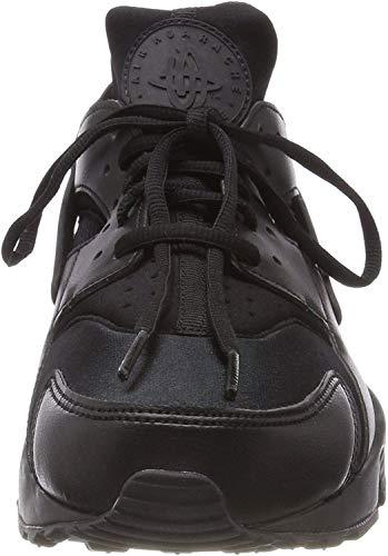 Nike Wmns Air Huarache Run, Dames Sneakers, Zwart (Zwart/Zwart 012), 3.5 UK