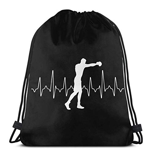LREFON Mochila con cordón de Boxeo Sports Gym Sackpack Bolsa de Viaje
