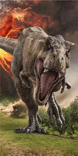 Jerry Fabrics Jurassic World - Toalla de ducha (70 x 140 cm)