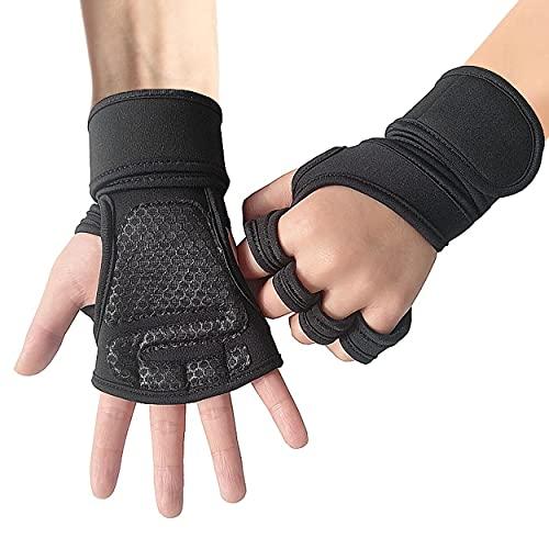 HQCM Fitness Handschuhe, Klettverschluss zur Einstellung der Elastizität Trainingshandschuhe, Gewichtheben Handschuhe für Bodybuilding Crossfit, Damen und Herren