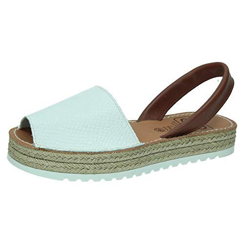 MADE IN SPAIN 8203 Menorquina Blancas Mujer Sandalias Blanco 38