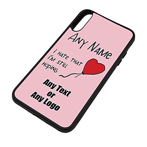 UNIGIFT gepersonaliseerd cadeau - Ik haat het dat ik nog steeds hoop iPhone X hoesje (Gelegenheid ontwerp thema, kleur opties) - Naam/bericht op uw unieke - Apple TPU Cover - hart ballon trieste liefde verdriet