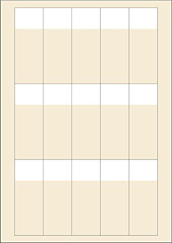 LEMAX® Kabelmarkierer zum Bedrucken, Folie, 35,6x93,1mm, 1500/VE