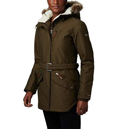 Columbia Carson Pass II Chaqueta Impermeable, Mujer, Verde (Olive Green), L