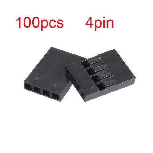 100pcs 4P Dupont Jumper Connettore femmina Spilla cablato 2,54posizione