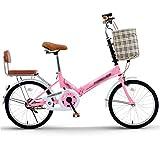 Bicicletas Plegable Portátil Ultraligera para Mujeres Adultos De 16 Pulgadas 20 Pulgadas Estudiantes Carretera Plegable