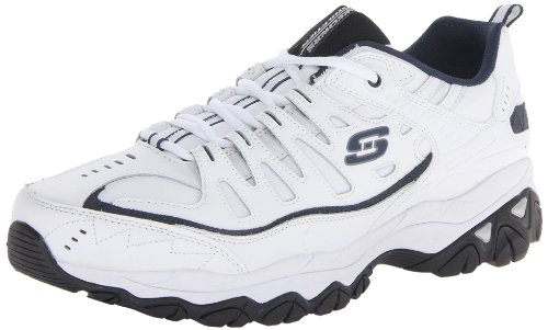 Skechers mens Fit industrial and construction shoes, White/Navy, 14 4E US