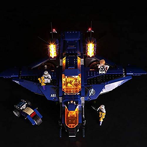 WXX Compatible con El Kit De Iluminación LED Avengers Superman Police Queen Fighter Lego con Control Remoto, Un Regalo para Niños En Fiestas (Sin Bloques De Construcción),Basic Models