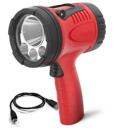 Energizer Rechargeable Spotlight Flashlight, Water-Resistant, Rugged Durability, High Lumens, USB Charging Cable Included