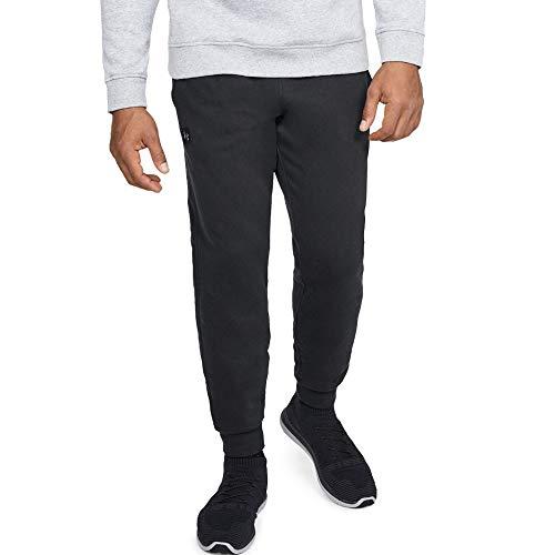 Under Armour Herren UA Rival Fleece Jogginghose, leichte Sporthose, komfortable und bequeme hose mit loser Passform, Schwarz (Black/Black 001), XL