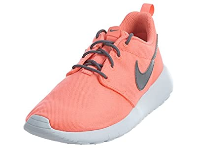 Nike Roshe ONE (GS) Girls Fashion-Sneakers 599729-612_7Y - Lava Glow/Cool Grey-White