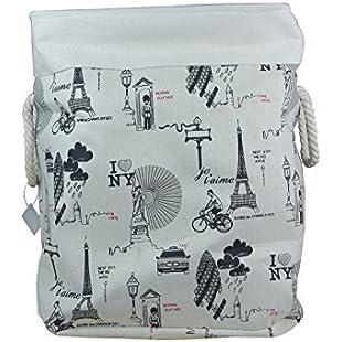 Arpan Fabric Foldable Laundry Basket Folding Toys Organiser Storage/Clothing Basket (Large - 49x30x40cm)