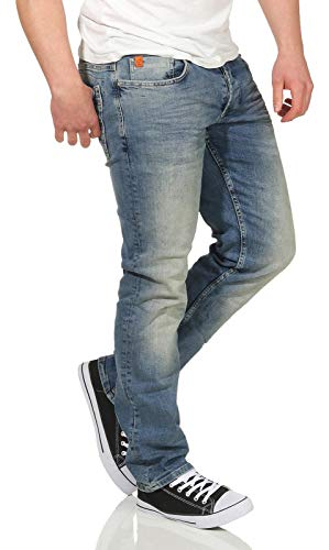 M.O.D Herren Straight Leg Jeans Hose Thomas New Comfort Fit alava blue 32/32