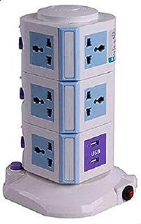 Star Vertical Power Socket Multi-function Plug Universal Socket 4 USB 3m long extension charger