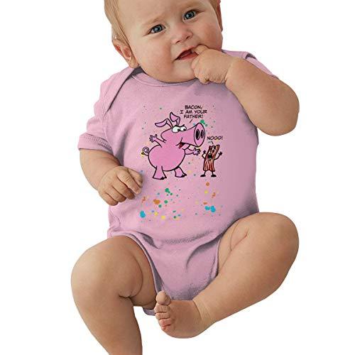 Bacon I Am Your Father Neugeborene Bodysuits Strampler Summer Schlafanzüge Für Kleinkind Babykleidung 0-2T