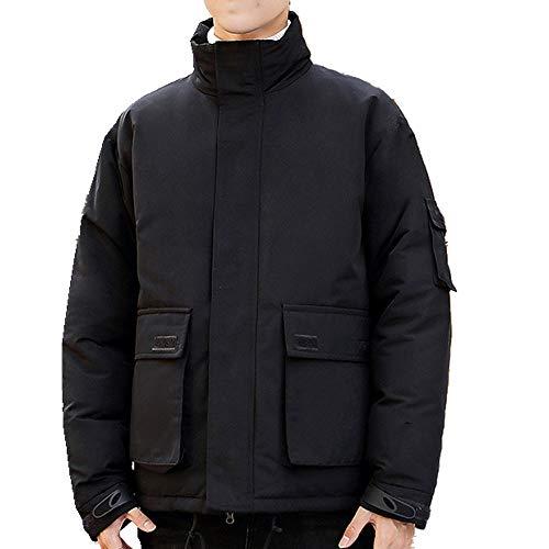 Invierno cálido pato blanco abajo de los hombres de abajo chaqueta de pie collar suelta abrigo de los hombres desgaste