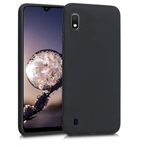 kwmobile Hülle kompatibel mit Samsung Galaxy A10 - Hülle Silikon - Soft Handyhülle - Handy Hülle in Schwarz matt