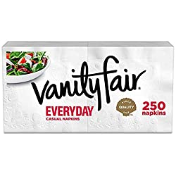 Vanity Fair Everyday Napkins, 250 Count, White Dinner Paper Napkins